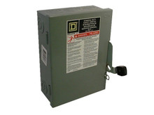 SQUARE D D321N U 30A 240V 3PH FUSED NEMA 1 USED