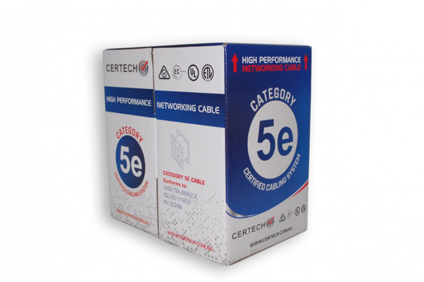 Cat5E 305 metre Blue UTP Solid Cable Roll