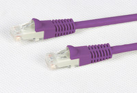 Cat 5E Purple UTP Patch Lead 100MHz
