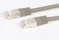 Cat 6A Grey STP 10G Patch Lead 500MHz