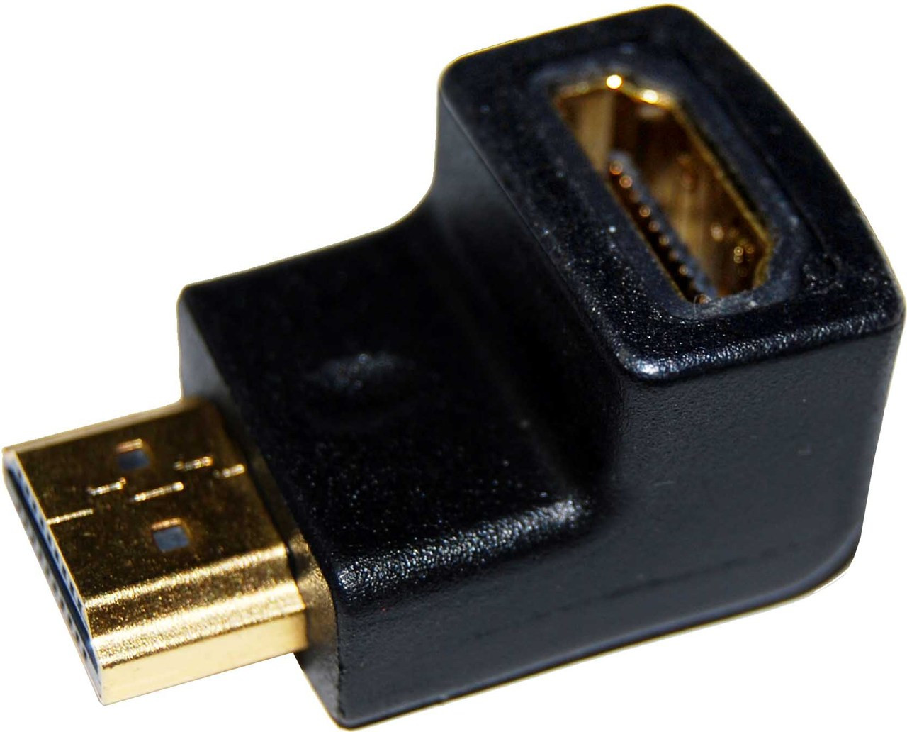 HDMI Down Angled Adapter High Speed with Ethernet GOLD Plated