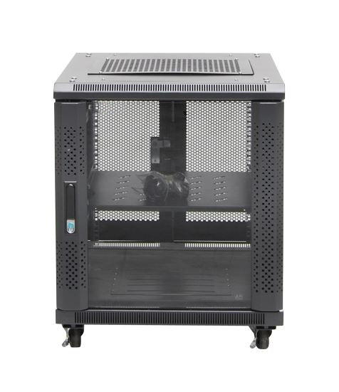 12RU network server rack cabinet 700mm deep - front