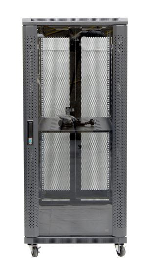 27RU network server rack cabinet 600mm deep - Front