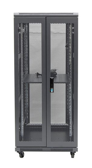 27RU network server rack cabinet 600mm deep - rear