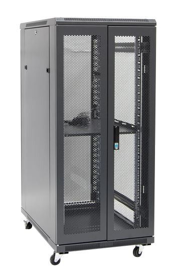 27RU network server rack cabinet 900mm deep - rear angled