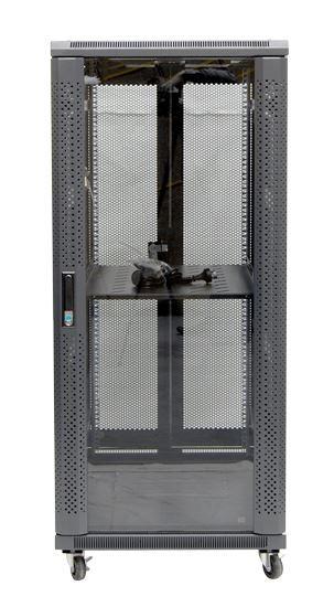 27RU network server rack cabinet 1000mm deep - front