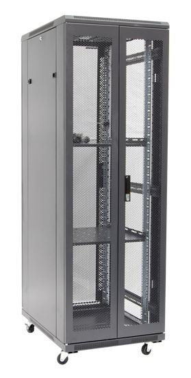 37RU network server rack cabinet 600mm deep - rear angled