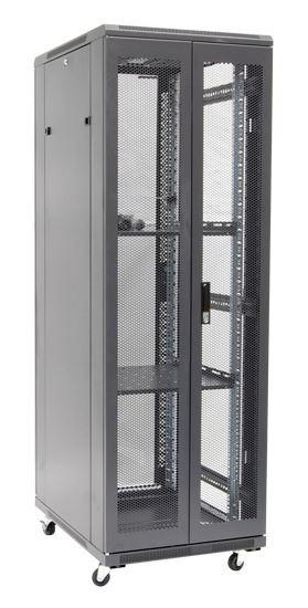37RU network server rack cabinet 1000mm deep - rear angled