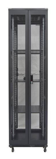45RU network server rack cabinet 1000mm deep - rear