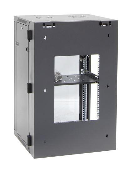 18RU Wall mount server rack cabinet Swing Frame - Rear