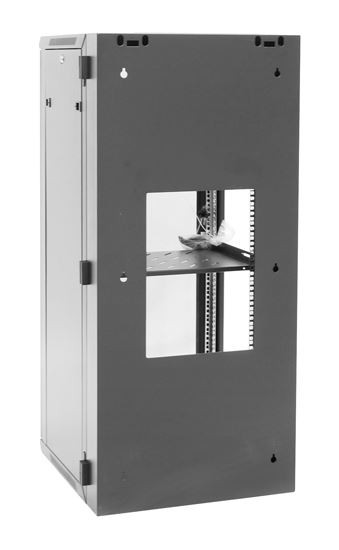 24RU Wall Mount Server Rack Cabinet 600mm Deep Swing Frame - Rear