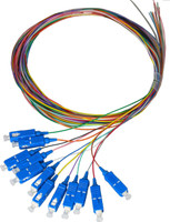 2M SC Pigtail OM3 12 Pack Colour Coded, 900um Multimode Fibre