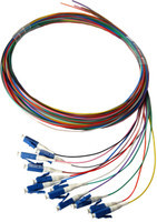 2M LC Pigtail OM1 12 Pack Colour Coded, 900um Multimode Fibre