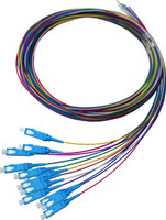 2M SC Pigtail OS1 12 Pack Colour Coded, 900um Single mode Fibre