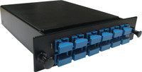 MTP OM3 6 Port LC Duplex Multimode Fibre Cassette for FPP3P Fibre Tray