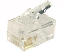 RJ-14 Plug 20pc Bag 4P4C Modular Plug
