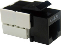 Cat5e Keystone RJ-45 Jack for 110 Face Plate - Black