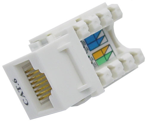Cat6 Keystone RJ-45 Jack for 110 Face Plate 90 degree Jack