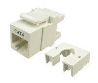 Cat6 Keystone RJ-45 Jack for 110 Face Plate - White Colour