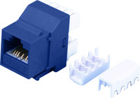 Cat6 Keystone RJ-45 Jack for 110 Face Plate - Blue Colour