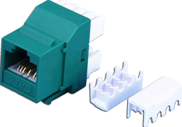 Cat6 Keystone RJ-45 Jack for 110 Face Plate - Green Colour
