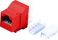 Cat6 Keystone RJ-45 Jack for 110 Face Plate - Red Colour