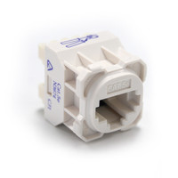 Cat5e RJ-45 Jack - White - for use with RJ45 plugs only