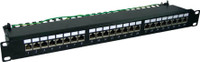 "24 Port 19"" Cat6 Shielded Patch Panel 1RU"