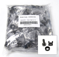 100pc Pack 3 Piece Cage Nut Black Coloured individually bagged