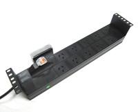 10 Outlet 2RU Horizontal Power Rail (10A) with 6kA C Curve Circuit Breaker