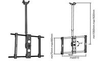 """37-63"""" Single Ceiling Mount Bracket for LCD/Plasma TV"""
