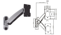 "17-37"" Counter Balance LCD/Plasma Wall Mount Bracket"