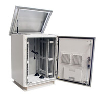 Outdoor Dust Proof Freestanding Server Rack Cabinet Vented IP45
