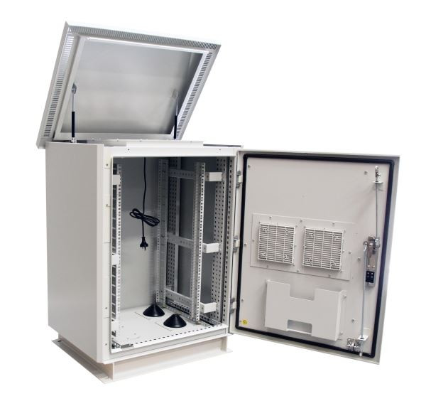 27RU Outdoor Dust Proof Freestanding Server Rack Cabinet Vented IP45