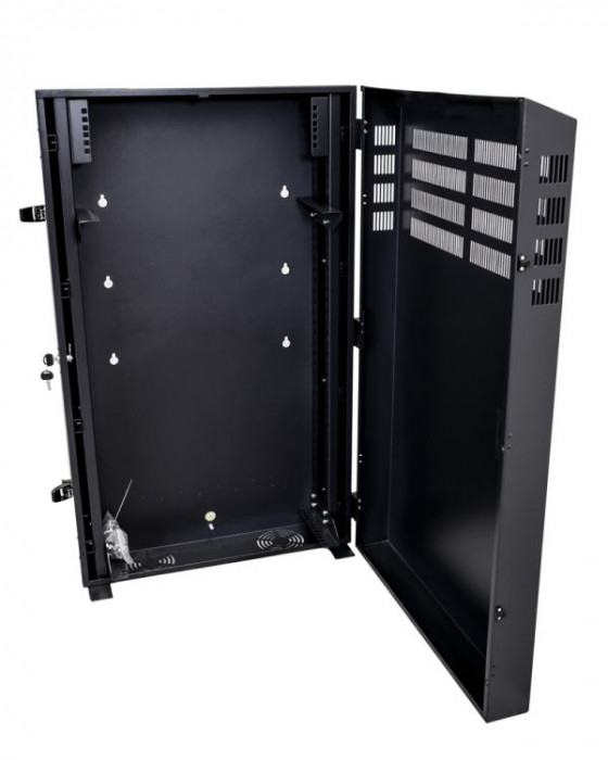 6RU Vertical Wall Mount Cabinet with 2U Horizontal Mount