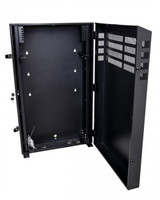 8RU Vertical Wall Mount Cabinet with 2U Horizontal Mount