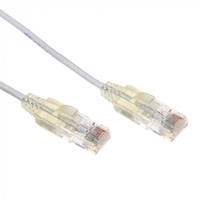 Cat6A UTP White Super-Thin Patch Lead