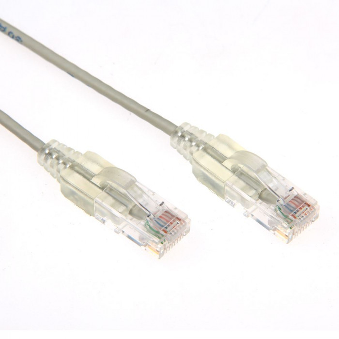 Cat6A UTP Grey Super-Thin Patch Lead
