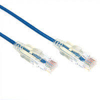 Cat6A UTP Blue Super-Thin Patch Lead