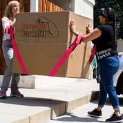 Forearm Forklift Lifting Straps  ( Breast Cancer Awareness model )