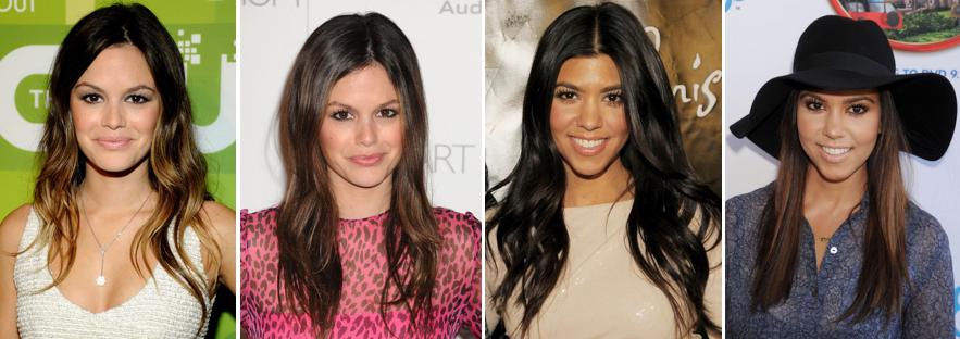 Rachel Bilson Kourtney Kardashian Hairtstyles