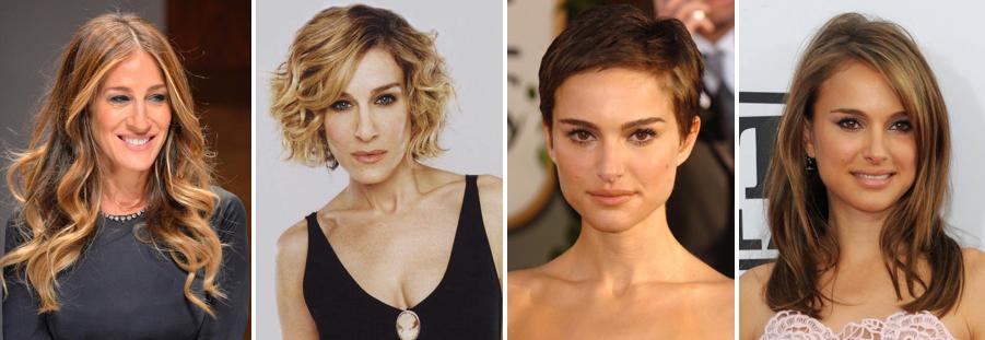 Sarah Jessica Parker Natalie Portman Hairstyles