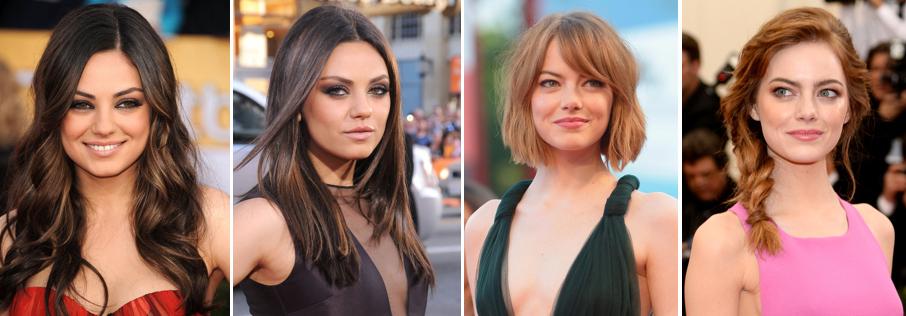 Mila Kunis Emma Stone Hairstyles