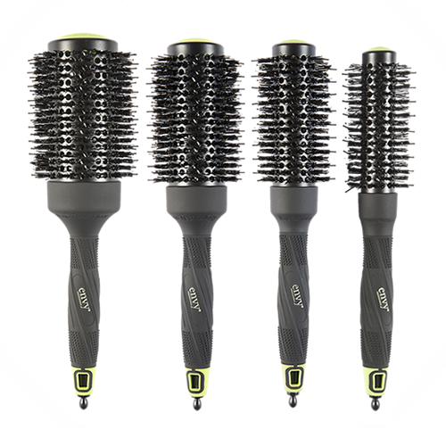 Ceramic & Ionic Radial Brush Set of 4