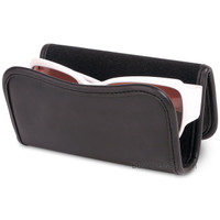 Douglas Car Visor Sunglass and Eyeglass Leatherette Holder Caddy - Easily Attach Sunglasses to Your Car Sun Visor