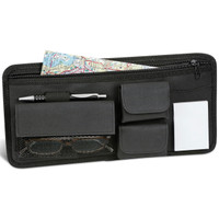 Craig Car Sun Visor Organizer Valet Caddy - Notepad, Wallet, Map Compartment, Sunglass or Eyeglass Holder