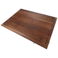 Tomokazu Reversible Edge Grain Walnut Wood Cutting Board, 19.7 x 14 x 1 in, Large