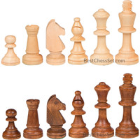 Gugertree Wood Weighted Chess Pieces – Pieces Only – No Board - 3.5 Inch King