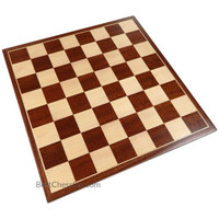 Erebus Chess Board with Inlaid Mahogany Wood, Medium 13 x 13 Inch, Board Only
