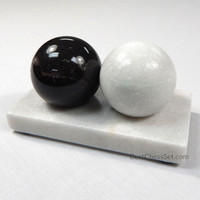 ACU-Balls Chinese Health Medicine Marble Baoding Stress Balls with Stand for Stone Massage Therapy and Hand Exercise
